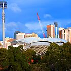 Adelaide Oval lights by albertross