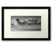 Thunderheads over a sea of clouds  Framed Print