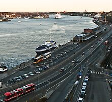 Stockholm, the Inlet from the Sea. Sweden by StaffanGuttman