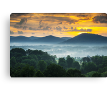 Asheville NC Blue Ridge Mountains Sunset - Welcome to Asheville Canvas Print