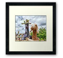 Two Nosy Goats.  Framed Print