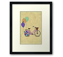Love to Cycle on my Pink Bike Framed Print