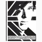 BANDERSNATCH CUMMERBUND in black and white by redmoonrabbit