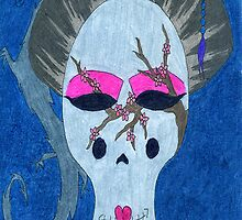 Asian Sugar Skull by scifigoofy