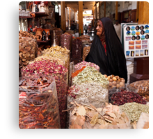 Shopping at the Souk Canvas Print