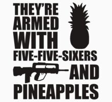Five-five-sixers and Pineapples (Black) by TwinMaster