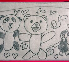 The Panda, The Teddy-Bear and The Super-Chicken by Minerva -Athina