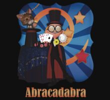 Abracadabra Magician T Shirt  by Moonlake