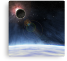 Outer Atmosphere of Planet Earth Canvas Print