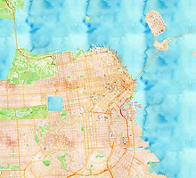 San Francisco Watercolor Poster by Traut1