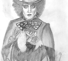 Johnny Depp as the Maddest Hatter there is by Purplesunset3