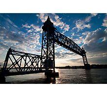 Cape Cod RR Bridge Silhouette Photographic Print