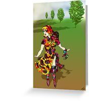 Tree Lined escape 2 Greeting Card