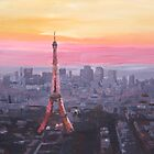 Paris Eiffel Tower at Dusk by artshop77