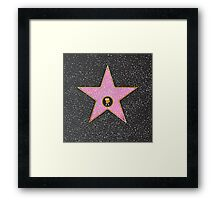 Celeb Movie Star Framed Print