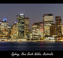 Sydney Skyline at night by PePhotography