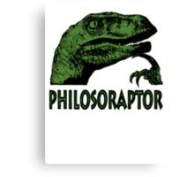 Philosoraptor Canvas Print