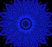 ozorahmi blue mandala iPhone case by peter barreda