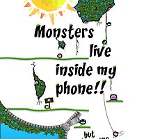 Monsters live inside me!! by Elliott Butler
