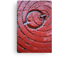 Red Hatch Canvas Print