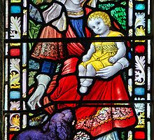 Priory Church Window 2 ~ St Michael's Mount by Susie Peek