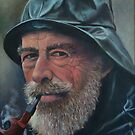 Old Sailor Oil Painting by JamieTifft