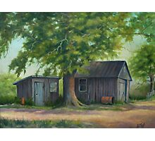 Country Shed Oil Painting Photographic Print