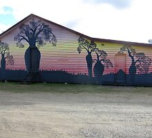 'Lawgi Hall' with colourful Mural, Biloela. Queensland. Aust. by Rita Blom