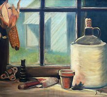 Tool Shed Still Life Painting by JamieTifft