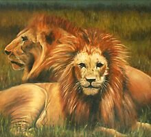 Lions Painting by JamieTifft