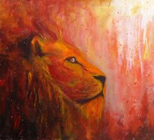 Lion Painting by JamieTifft