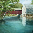 Bridge Over River Painting by JamieTifft