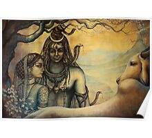 Shiva and Parvati. Spring in Himalayas Poster