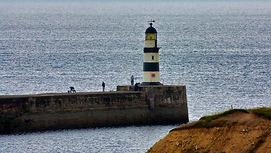 Seaham Harbour Light by Trevor Kersley