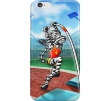 Olympic Pole Vault Zebra iPhone Case/Skin