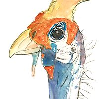 Guinea Fowl by Krokokaro