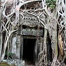 Angkor Temple Door by KelseyGallery