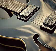 Black Guitar by Lyn  Randle
