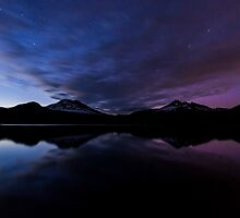 Before Dark - Aurora at Sparks Lake by Toby Harriman