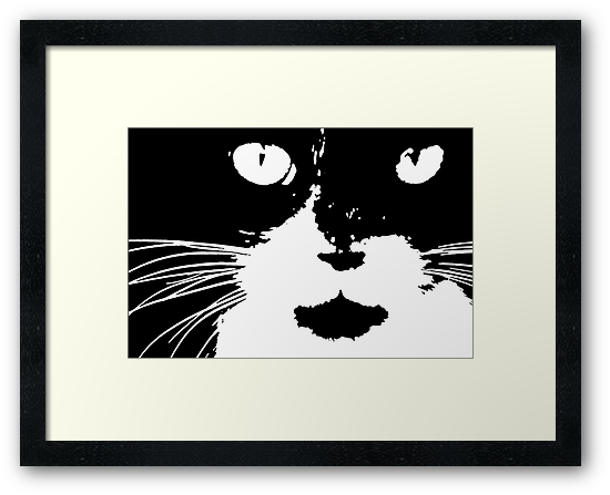 Cat Print/My Patch Abstract Graphic Cat Print Black and White - Jenny Meehan Design by jenny meehan