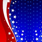 Abstract American Flag-Red White And Blue Stars And Stripes by artonwear