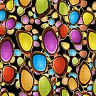Abstract Random Colorful Oval Shapes by artonwear