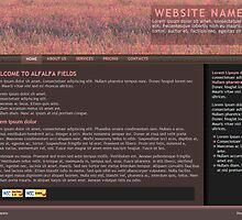 Alfalfa Fields - web design by Darcy Overland