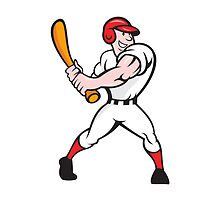 Baseball Player Batting Cartoon by patrimonio