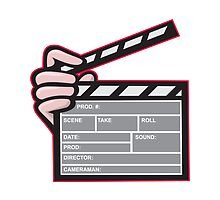 Clapboard Clapperboard Clapper Front by patrimonio