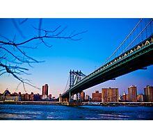 Thats how we across - Manhattan Bridge Photographic Print