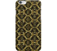 Black And Gold Tones Seamless Abstract Ornate Baroque Pattern iPhone Case/Skin