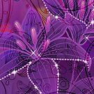 Purple Abstract Lili Design by artonwear