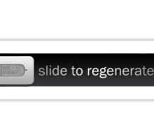 Slide to Regenerate Sticker