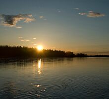 Sunset on the Tanana - - Cards by Maria A. Barnowl